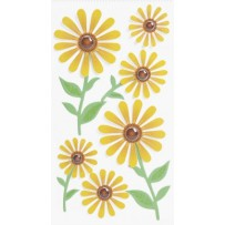 Sticker Mix Blumen gelb